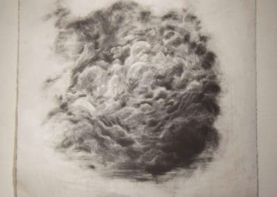 Untitled, Graphite, 3.5' x 3.5' 2019