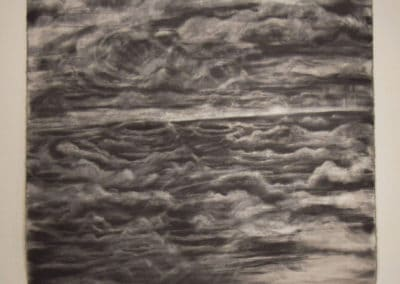 Untitled, Graphite, 3.5' x 3.5' 2020